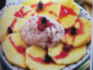 Ananas con crema di banane
