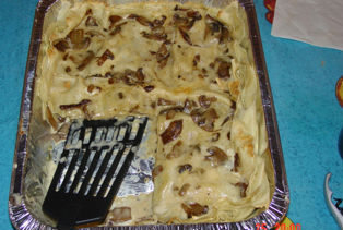 Lasagne con funghi porcini e speck