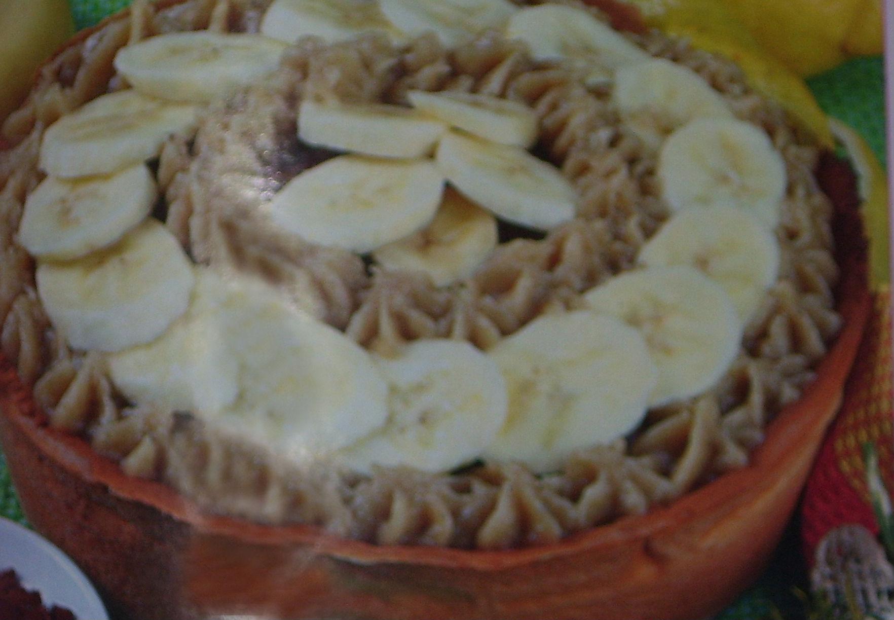 Crostata di banane e cioccolato