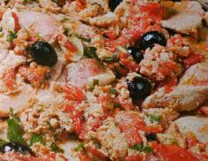 Carne con tonno e olive