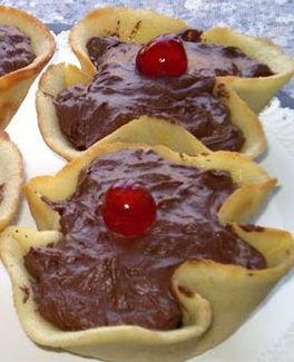Cialde con pere e cioccolato