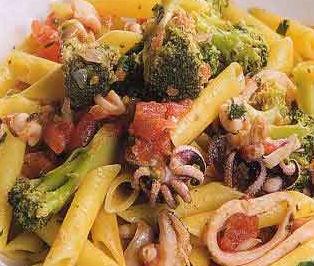 Penne ai broccoli e calamari
