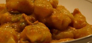 Gnocchi di bieta con salsa di noci