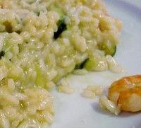 Risotto con scampi pancetta e spinaci