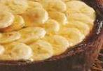 Torta di cioccolato e banane