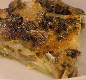 Sformato di patate con funghi porcini