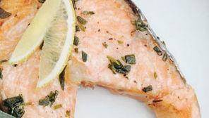 Salmone gratinato alle erba