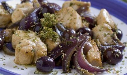 Bocconcini di pollo con cipolle
