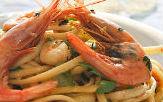 Spaghetti calamari zucchine e fiori di zucca