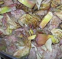 Filetto di maiale con carciofi e indivia belga
