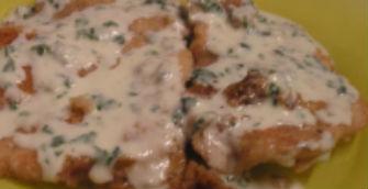 Cotolette con spinaci e gorgonzola