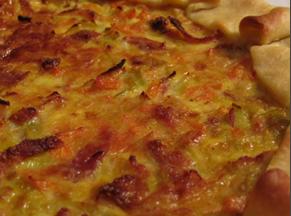 Torta ai formaggi con pancetta