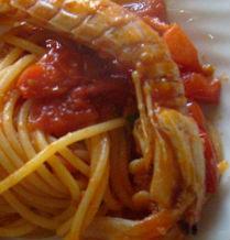 Spaghetti con cicale di mare
