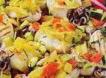 Seppie alla griglia con verdure