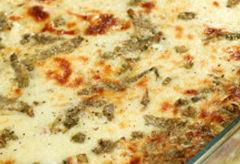 Lasagne con carciofi e prosciutto cotto