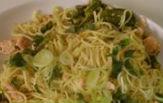 Spaghetti con calamari fagiolini e patate