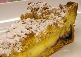 Torta di crema e amarena