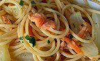 Spaghetti finocchio e salmone