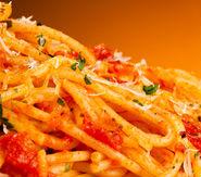 Spaghetti patate funghi e scampi