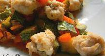 Bocconcini di rana pescatrice con verdure
