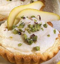 Tartellette con mousse di pera