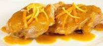 Petti di pollo all'arancia