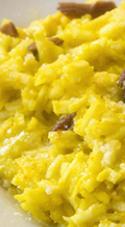 risotto giallo con mandorle