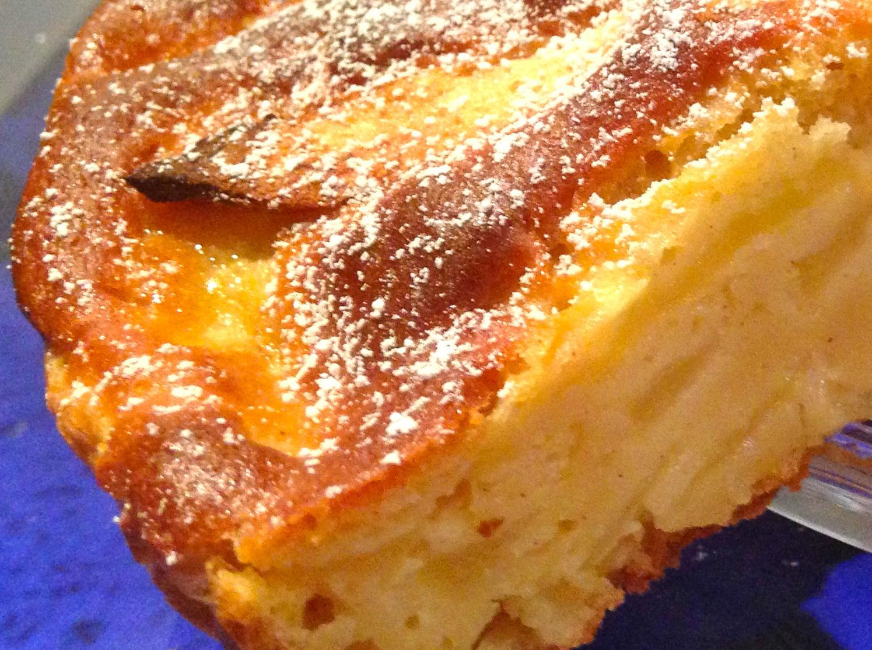 Torta con crema di limonbe e mele