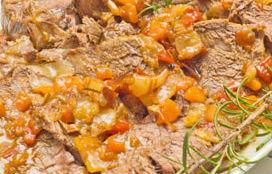 Arrosto di vitello con salsa di verdure